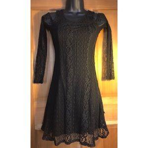NEW  HOLLISTER Dress Lace Black XS X Small